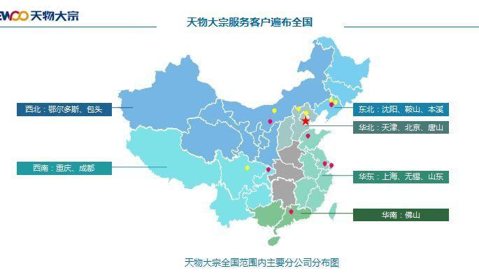 天物业务网点遍布全国西北,西南,东北,华北,华东,华南各个地区.